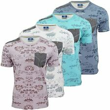 Mens T-Shirt by Smith & Jones 'Swanick' Floral Print Short Sleeved