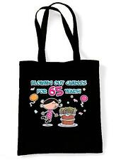 BLOWING OUT CANDLES FOR 65 YEARS SHOPPING  TOTE BAG 65th Birthday Present Gift