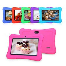 "7"" 16GB Android 4.4 Quad Core WIFI Camera Tablet PC Bundle Cute Case Kids Game"