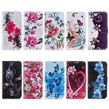 Book Style Case for Cell Phone Flip Wallet Stand Flap Cover Theme Picture Design