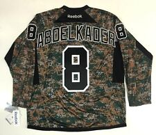 JUSTIN ABDELKADER DETROIT RED WINGS REEBOK MILITARY CAMOUFLAGE CAMO JERSEY