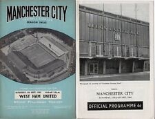 Manchester City programmes 1962/63 1963/64 choose from list FREE UK P&P