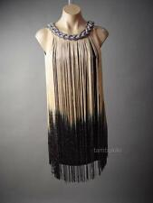 Roaring 20s Ombre Fringe Old Hollywood Flapper Costume Party 124 mv Dress S M L
