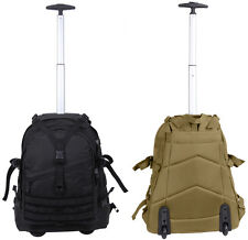 large transport pack bag rolling backpack with wheels and handle rothco 97287
