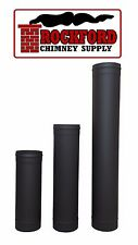 Black Single Wall Chimney Stove Pipe 6 in. Diameter, Variety of Lengths