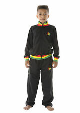 CHILDRENS RASTA Jamaica LION OF JUDAH Black TRACKSUIT 3-12 Years - FREE UK P&P!