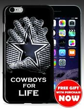 DALLAS COWBOYS NFL FOOTBALL Hard & Rubber Case For Iphone 4/4s/5/5s/6/6 Plus