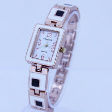 Fashion Square Lady Women Quartz Sports Rose Gold Bracelet Wrist Watch Gift O29