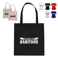 I'D RATHER BE Baritone Horn Player Music Gift Cotton Tote Bag SQ