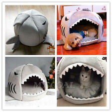 Pet Cat Shark Bed Puppy Dog Cozy Warm Cushion Mat Nesting Rest House Igloo Cave