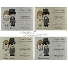 Bride Groom Invite Personalised Wedding Day Or Evening Invitations And Envelopes