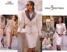 Vogue 1710 Jacket, Pullover Dress, Top, Tapered Skirt, Pants Easy Sewing Pattern