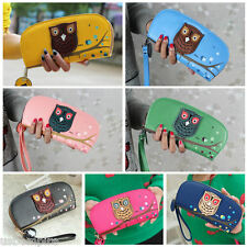 Ladies Round Owl Clutch Wallet PU Leather Long Card Holder Case Purse 7 Colors