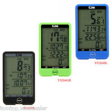 New Waterproof Digital LCD Computer Cycle Bicycle Bike MTB Speedometer Odometer