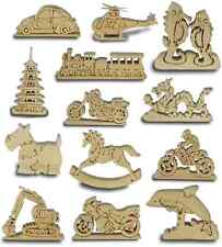 HANDCRAFTED WOODEN PUZZLE / WOOD MODEL ORNAMENT.NEW & BOXED.22 TO CHOOSE FROM