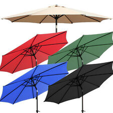 NEW 9ft Outdoor Patio Umbrella Aluminum Tilt Market Garden Yard Beach w/ Crank