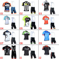 2015 Men Bike Riding Suits Cycling Jersey Bib Shorts Kits Top Shirt Knickers Set