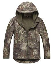Scorpion Tactical Soft Shell Mens Military Waterproof Hooded Snake Camo Jacket