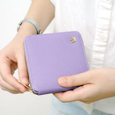New Women Casual Purse Crown Zipper Girl Outdoor Coin Card Wallet Faux Leather