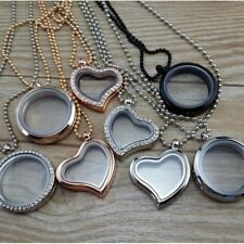 Sale 30mm Living Memory Floating Charm Glass Locket Pendant Necklace Free Chain