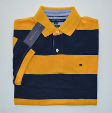 NEW Men's Tommy Hilfiger Short-Sleeve Polo Shirt, Yellow, Dark Blue S M L XL