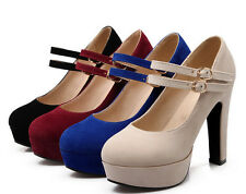 Fashion Ladies Party Shoes High Heel Platform Women Strappy Pumps UK Sexy Size