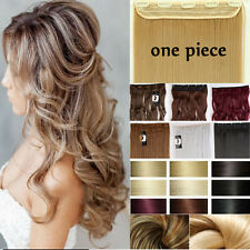"""100% Natural Hair Half Full Head Clip in Hair Extensions Extentions 17-30"""" FF312"""