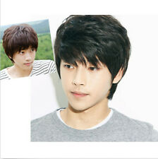 Hot Sales! Handsome Boys Wig Korean Short Black Men's Male Hair Cosplay Wigs New