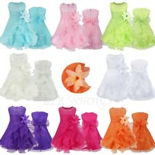Baby Girl Toddler Skirt Wedding Fancy Tutu Dress Party Princess Dress Big Sale