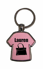 Personalised Double Sided T Shirt Shaped Key Ring You Choose Name 4 Girl. J-T