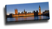 Big Ben & Houses Of Parliament Panoramic Extra Wide Giclee Canvas Picture