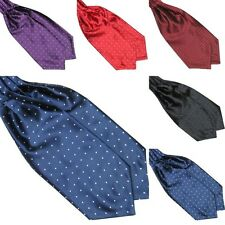 Fashion Polka Dot Men Long Silk Scarves/Cravat Ascot Ties Handkerchief Gentlemen