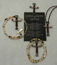 Horseshoe Nail Cross Jewelry-Cross is Bronze/Rose Gold-1 OR 3 TYPES $$REDUCED$$$