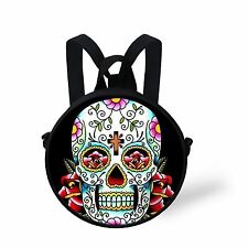 Cool Fashion Kids Skull Zombies Round Backpack,Shoulder Bag Women Handbags Purse