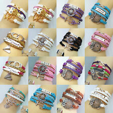 Fashion Charm Women Colorful Wrap Jewelry Hot Friendship Woven Bangle Bracelet