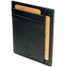Hammer Anvil Men Front Pocket Wallet Thin Slim Leather Multi Card Case ID Holder