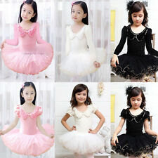 Girl Kids Dress Dancewear Ballet  Tutu Skirt Skate 3-9Y Dancing Leotard Costumes