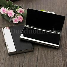 Aluminium Metal Leather Business ID Card Credit Card Name-Card Clip Case Holder