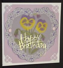 Handmade parchment craft  cards BIRTHDAY can be personalised
