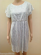 New Next Occasions Maternity Silver Sequin Dress Sz UK 8 10 & 12  rrp £50