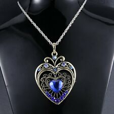 Wedding Fashion Heart Love Retro Rhinestone Crystal Women Necklace Pendant Hot