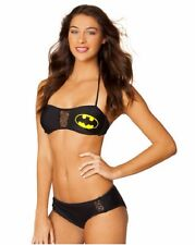 Batman Symbol Bat Mesh Bandeau Bikini DC Comics Licensed Swimsuit S-XL