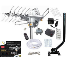 LAVA HD2605 HDTV DIGITAL ROTOR AMPLIFIED OUTDOOR HD TV ANTENNA CABLE J-POLE