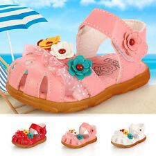 Girl Kids Gifts Baby Princess Flower Soft Flat Sandal Shoes Casual Dress Party