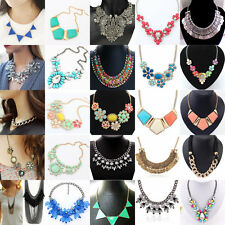 New Fashion Delicate Women Chain Crystal Statement Necklace Charm Jewelry