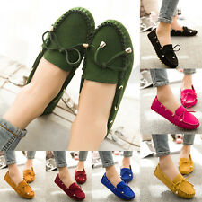 Womens Frill Bowknot Ballet Ballerinas Loafers Moccasins Slip On Flats Shoes