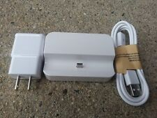 New 2 Amp White Wall Charger+3 Ft Micro USB Cable+Docking Station for Phones