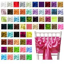 NEW Pack of 10 Chair Sashes Satin Fabric Table Runners Wedding Party Decorations