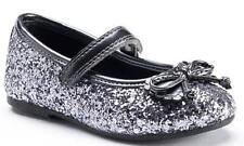 Girl's Toddler RACHEL SHOES LIL MARGIE Silver Mary Jane Flats Dress Shoes