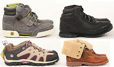 Juniors Youths Timberland in Pelle Con Lacci Casual Up Pelo Velcro Stivali
